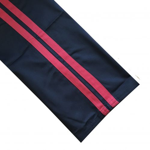 Black/Red Polycotton Trousers