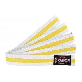 White Belt - Coloured Stripe