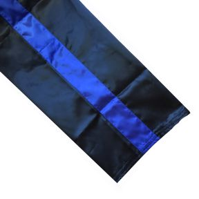 Black And Blue Satin Trousers