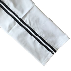White/2 Black Polycotton Trousers